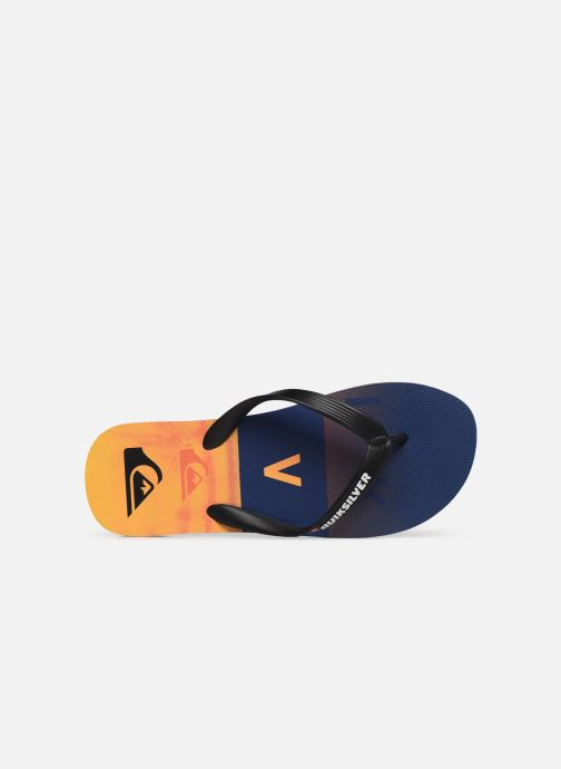 Zehensandalen Quiksilver MOLOKAI WORDBLOCK VOLLEY orange ansicht von links
