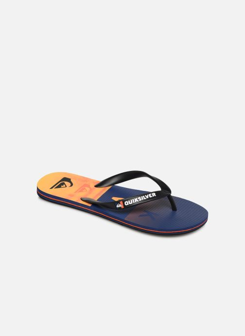 Flip flops Quiksilver MOLOKAI WORDBLOCK VOLLEY Orange detailed view/ Pair view