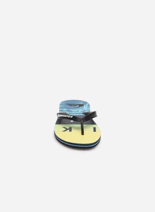 Flip flops Quiksilver MOLOKAI WORDBLOCK VOLLEY Blue model view