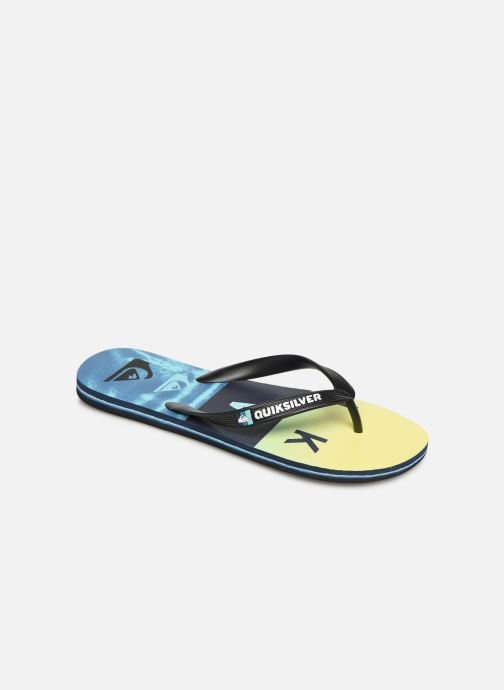 Flip flops Quiksilver MOLOKAI WORDBLOCK VOLLEY Blue detailed view/ Pair view