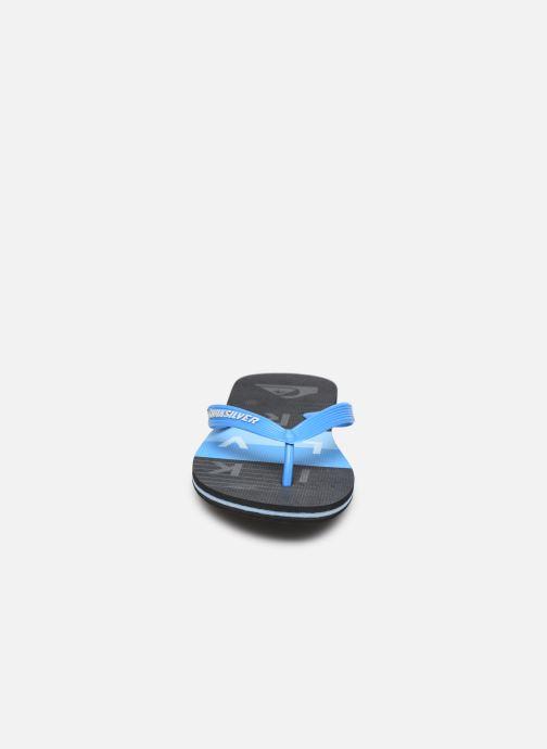 Tongs Quiksilver MOLOKAI WORDBLOCK VOLLEY Bleu vue portées chaussures