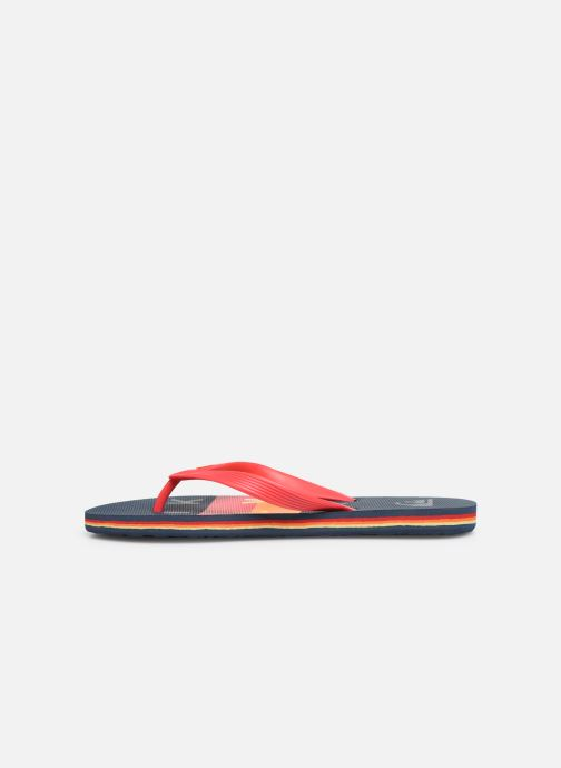 Tongs Quiksilver MOLOKAI WORDBLOCK VOLLEY Rouge vue face