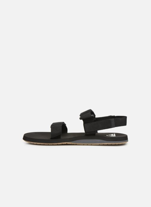 Sandals Quiksilver Monkey Caged Black front view