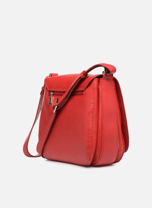 Handtaschen Mac Douglas KNOX BUNI M rot ansicht von rechts