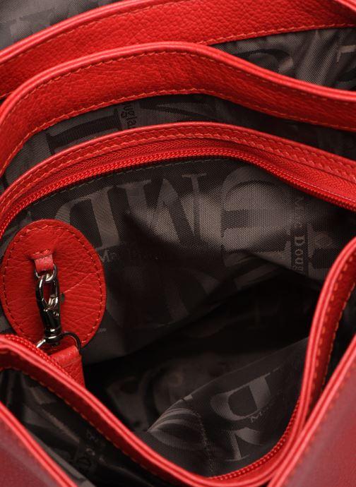 Handtaschen Mac Douglas KNOX BUNI M rot ansicht von hinten
