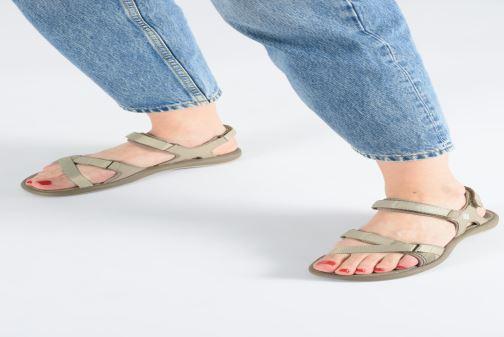 Sandalen Columbia Kyra™ III grau ansicht von unten / tasche getragen