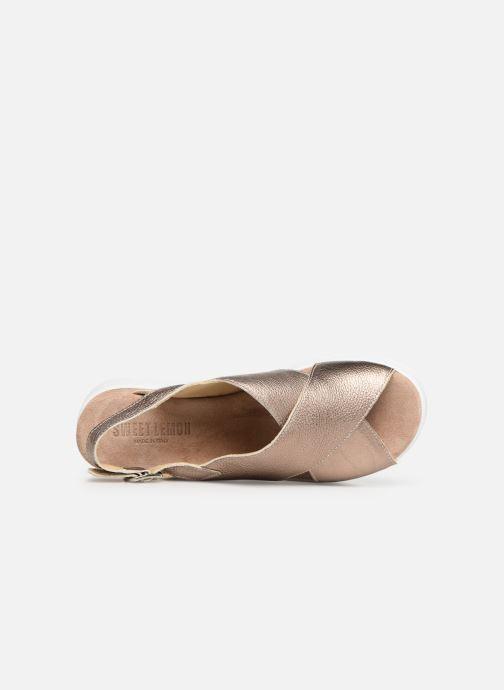 Sandales et nu-pieds Sweet Lemon L.16.SWAP Or et bronze vue gauche
