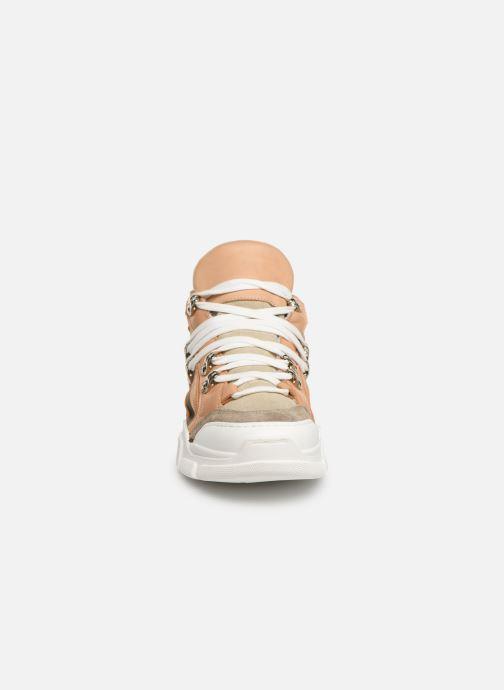 Baskets Sweet Lemon L.16.SINORA Beige vue portées chaussures