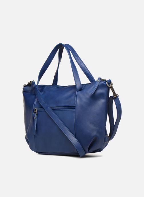 Handtaschen Sabrina Blandine blau ansicht von rechts