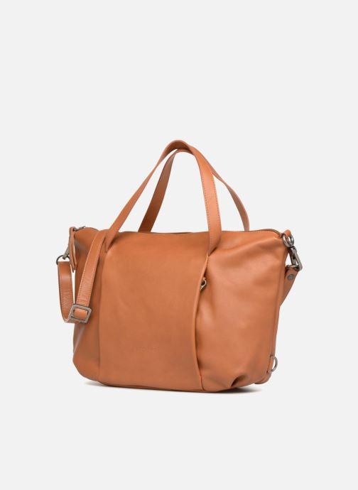 Handtaschen Sabrina Blandine braun schuhe getragen