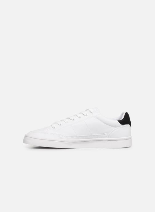 Baskets Fred Perry Deuce Canvas/Tricot Blanc vue face