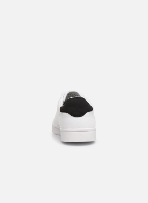 Baskets Fred Perry Deuce Canvas/Tricot Blanc vue droite