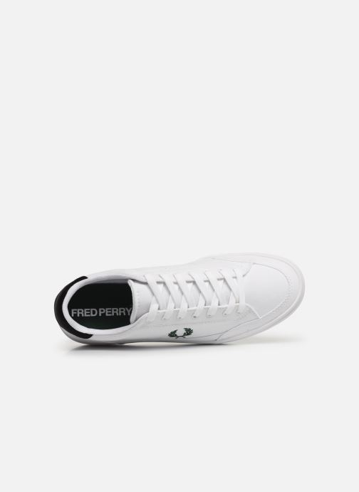 Baskets Fred Perry Deuce Canvas/Tricot Blanc vue gauche