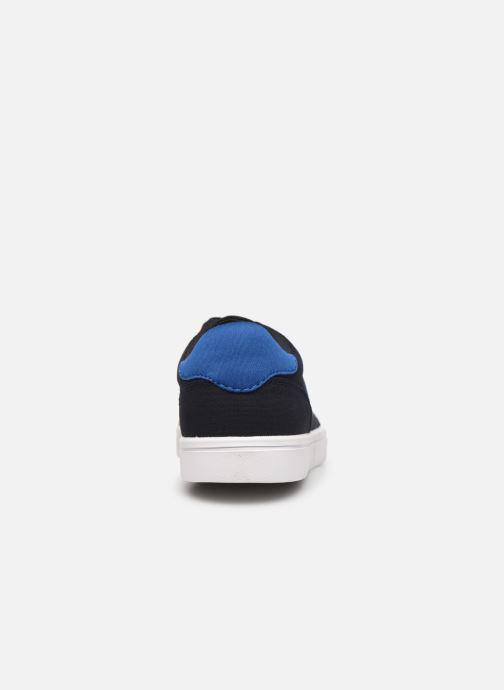 Baskets Fred Perry Deuce Canvas/Tricot Bleu vue droite