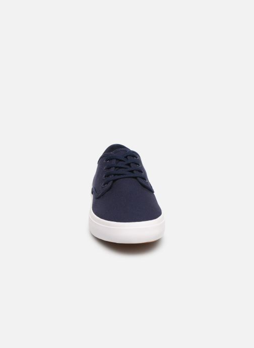 Baskets Fred Perry Merton Twill Bleu vue portées chaussures