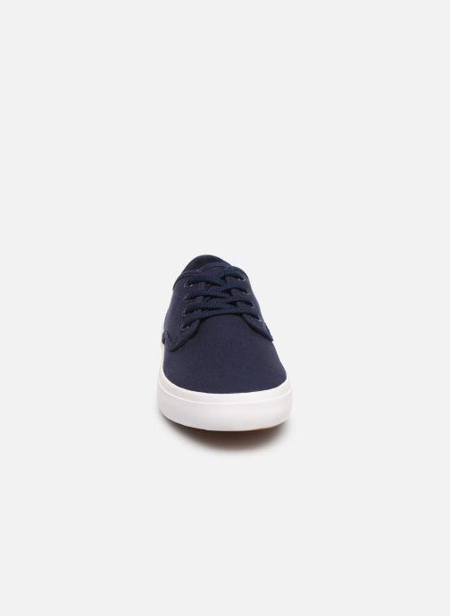 Baskets Fred Perry Merton Twill Bleu vue portées chaussures