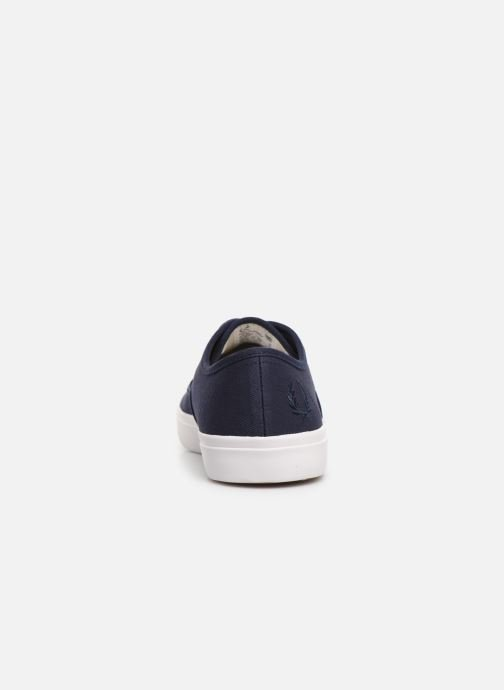 Baskets Fred Perry Merton Twill Bleu vue droite