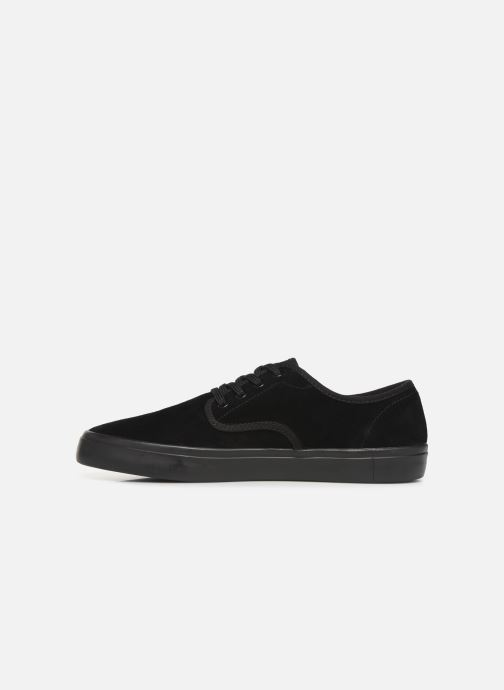 Baskets Fred Perry Merton Suede Noir vue face