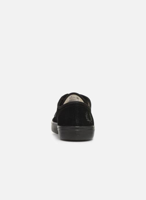 Baskets Fred Perry Merton Suede Noir vue droite