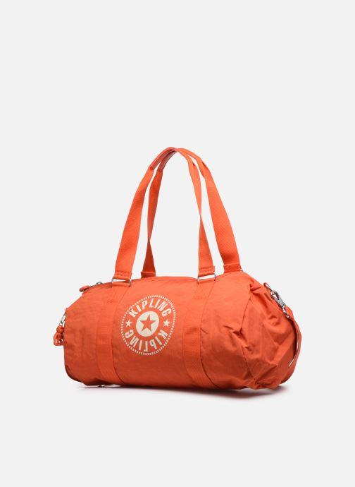 Borsa da palestra Kipling Onalo Arancione modello indossato