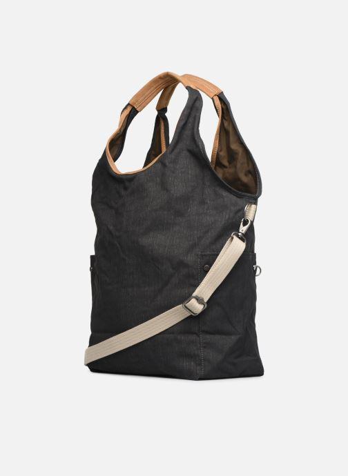 Handtaschen Kipling Urbana grau ansicht von rechts