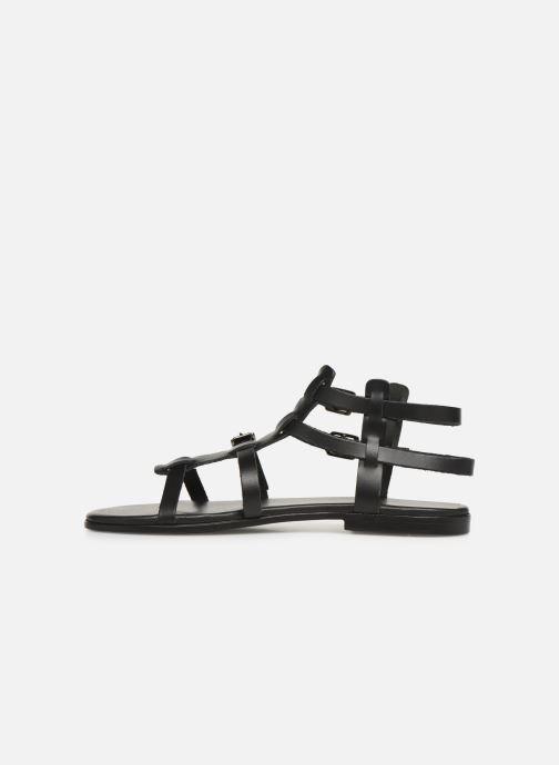Sandales et nu-pieds Bianco 20-50149 Noir vue face