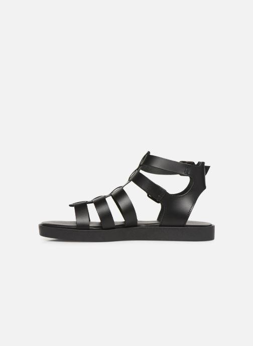 Sandales et nu-pieds Bianco 20-50147 Noir vue face