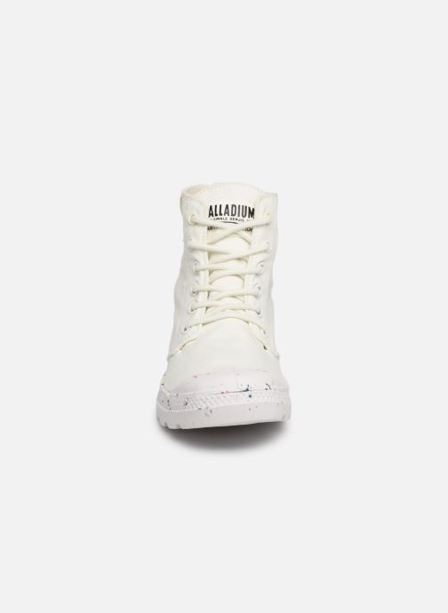 Baskets Palladium Pampa Hi Organic W Blanc vue portées chaussures