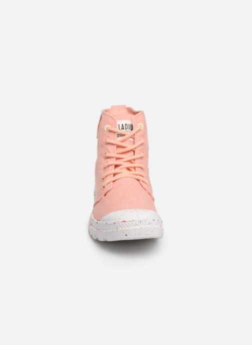 Baskets Palladium Pampa Hi Organic W Rose vue portées chaussures