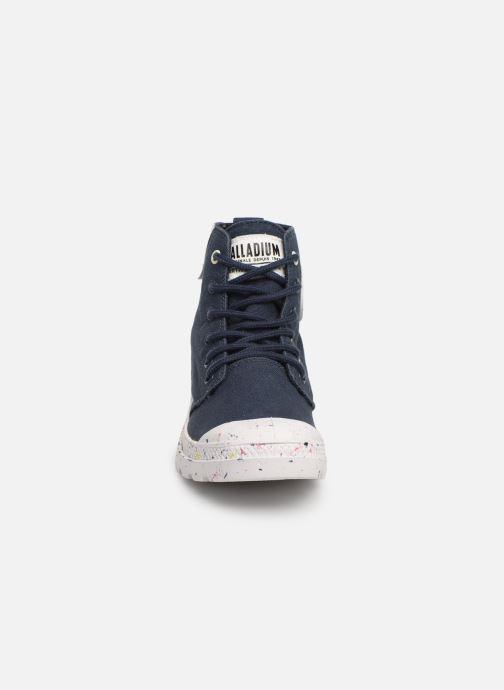 Baskets Palladium Pampa Hi Organic W Bleu vue portées chaussures