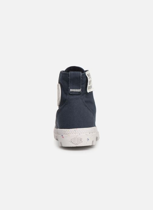 Trainers Palladium Pampa Hi Organic W Blue view from the right