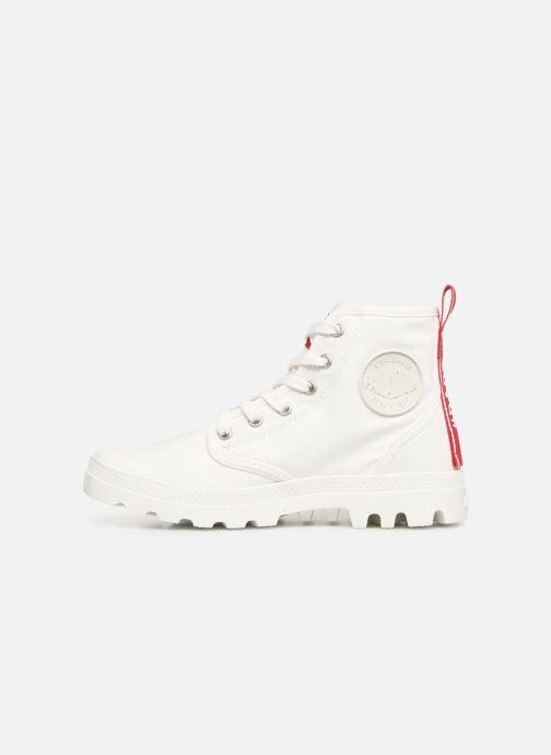 Sneaker Palladium Pampa Hi Dare weiß ansicht von vorne