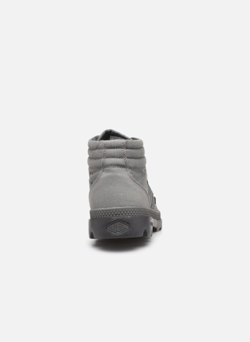 Baskets Palladium Retro Lite Supply Gris vue droite