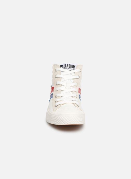 Baskets Palladium Pallaphoenix Cuff Rto W Blanc vue portées chaussures