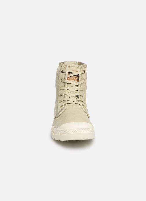 Sneaker Palladium Pampa Hi Denim beige schuhe getragen