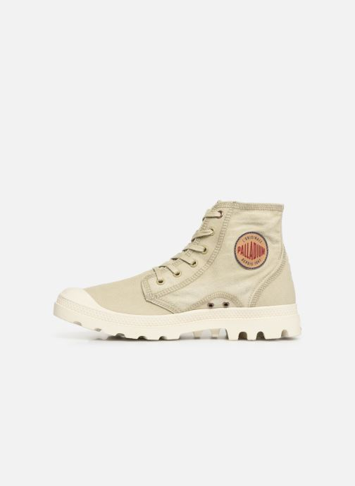 Baskets Palladium Pampa Hi Denim Beige vue face