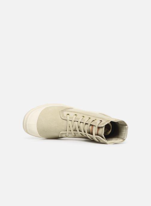Sneaker Palladium Pampa Hi Denim beige ansicht von links