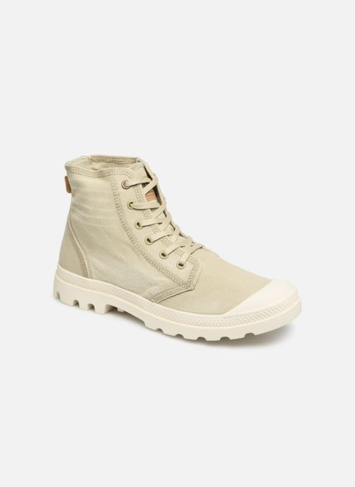 Baskets Palladium Pampa Hi Denim Beige vue détail/paire