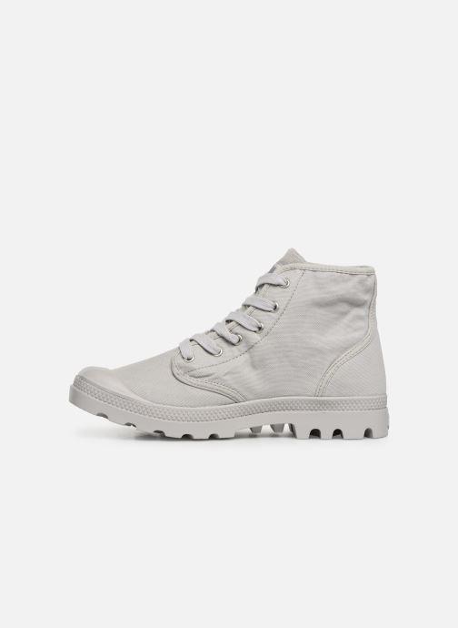 Sneaker Palladium Pampa Hi m grau ansicht von vorne