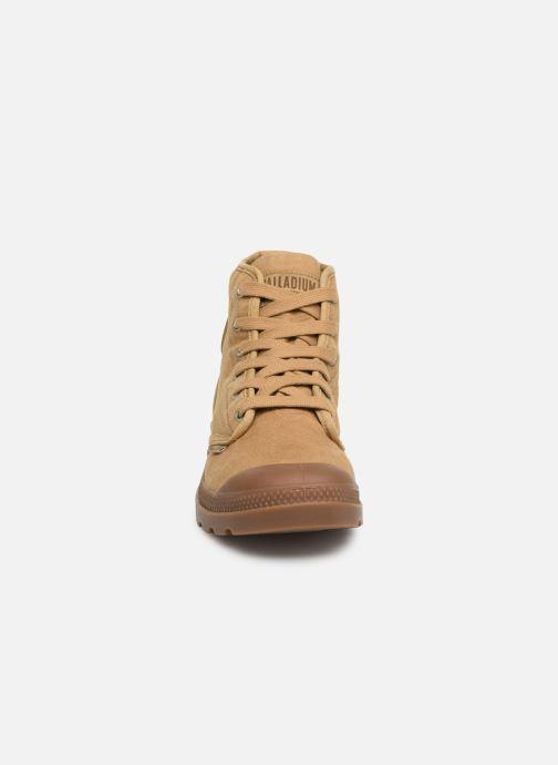 Baskets Palladium Pampa Hi M Beige vue portées chaussures