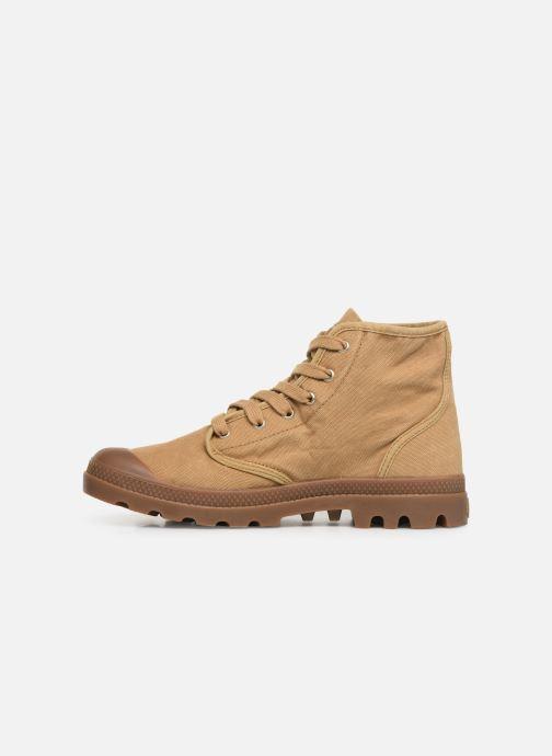 Sneakers Palladium Pampa Hi M Beige voorkant