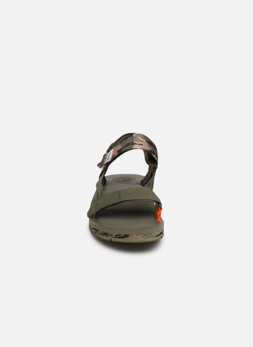 Sandales et nu-pieds Palladium Outdoorsy Strap Camo U Vert vue portées chaussures