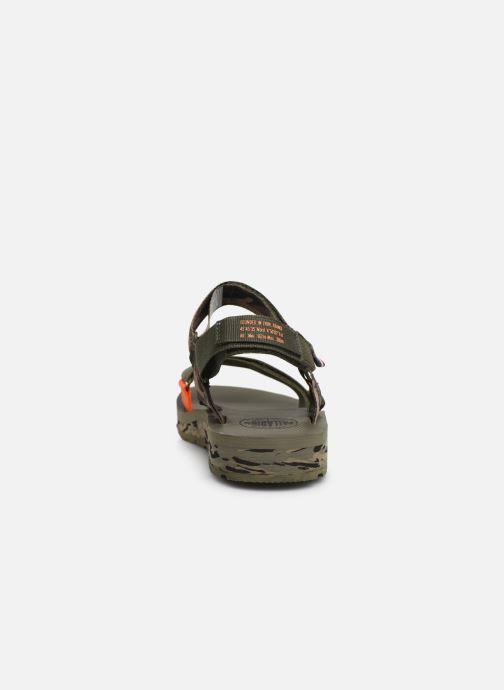 Sandales et nu-pieds Palladium Outdoorsy Strap Camo U Vert vue droite