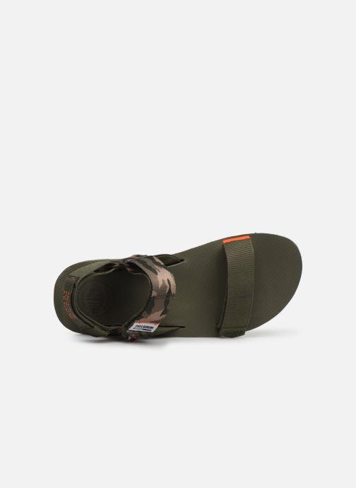 Sandales et nu-pieds Palladium Outdoorsy Strap Camo U Vert vue gauche
