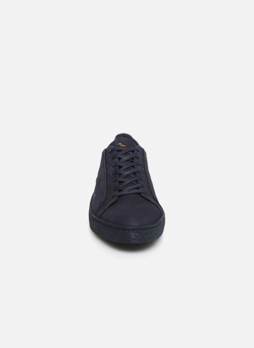 Baskets Le Coq Sportif Club Bleu vue portées chaussures