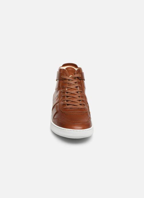 Baskets Le Coq Sportif Prestige Marron vue portées chaussures