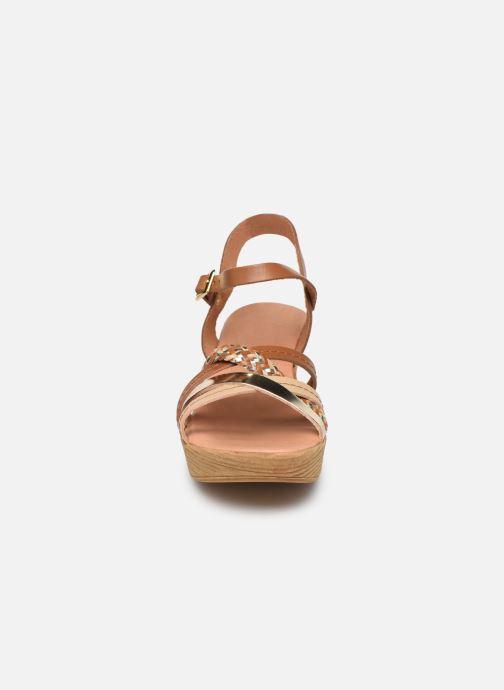 Sandales et nu-pieds Georgia Rose Mireilla Marron vue portées chaussures