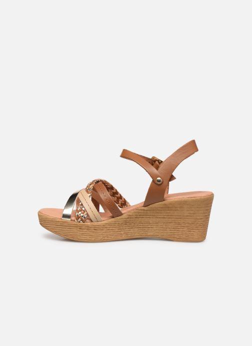 Sandales et nu-pieds Georgia Rose Mireilla Marron vue face