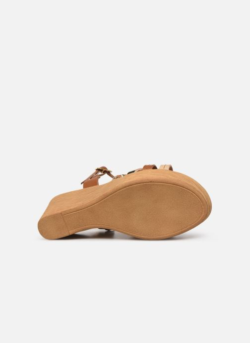 Sandales et nu-pieds Georgia Rose Mireilla Marron vue haut