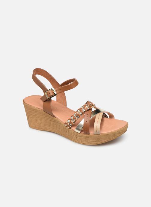 Sandales et nu-pieds Georgia Rose Mireilla Marron vue détail/paire